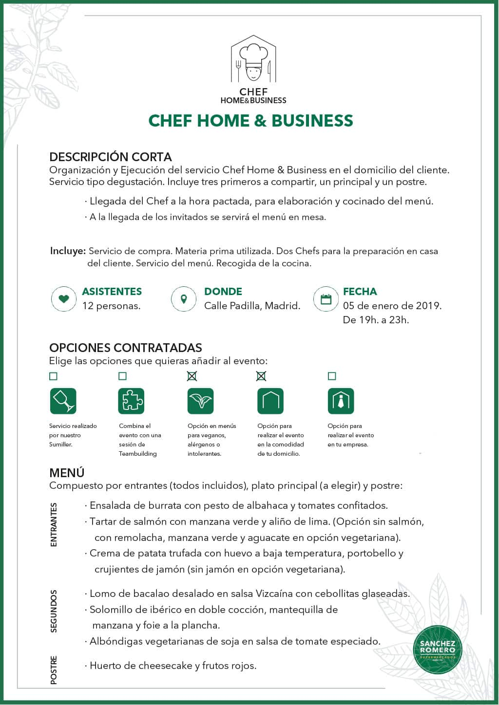 Ejemplo Chef Home&Business