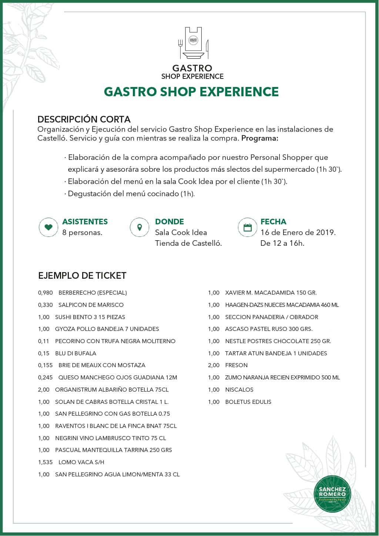 Ejemplo Gastro Shop Business