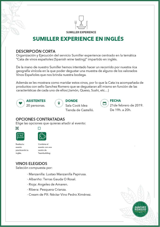 Ejemplo Sumiller Experience